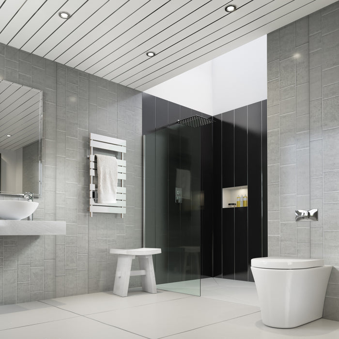 Multi Tile Small Grey Tile Effect 10mm (1m wide x 2.4m high)