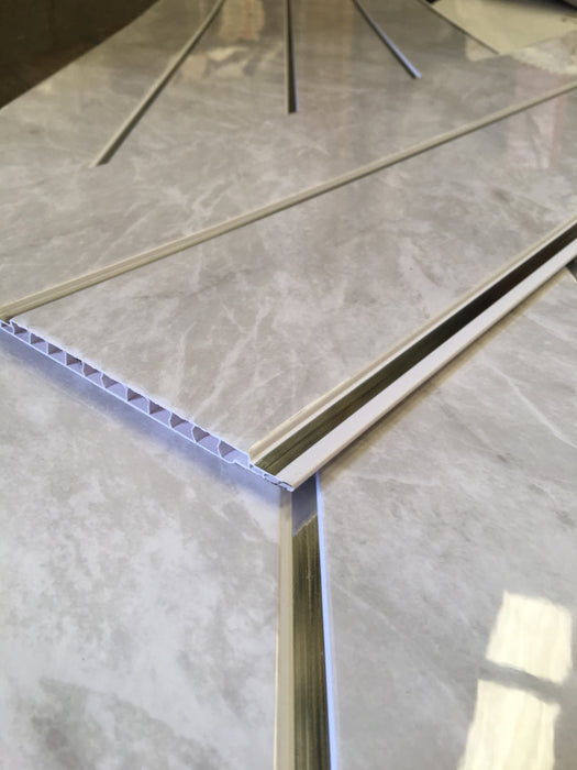 Grey Marble Chrome 6mm