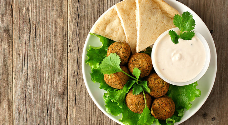 Falafel Pan-Fried in Olive Oil