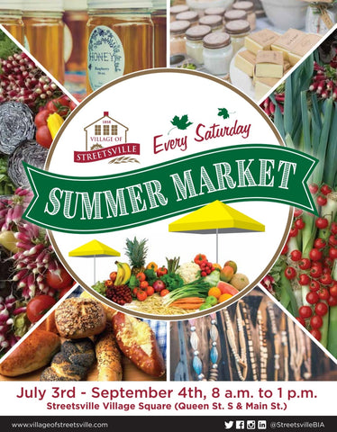 Summer, farmer's market, Streetsville, Mississauga, Canada, July, August, September, holistic wellness, Aromatherapy, candles, Essential oils, support local, small business