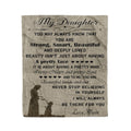 Fleece family Blanket Mom to daughter you may always know that you are strong smart beautiful and deeply loved