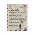 Fleece Family Blanket husband to wife you are stronger than you believe