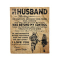 Fleece Soldier Blanket To my husband Meeting you was fate