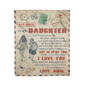 Fleece family  Blanket mom to daughter i love you