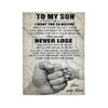 Fleece Family Blanket  Dad to son never lose