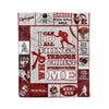 Fleece Blanket American football i can do all things