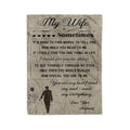 Fleece family Blanket my wife you are my best friend