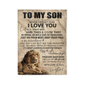 Fleece Lion Blanket To my son I love you