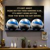 Volleyball poster It's not about being better than someone else it's about being better than you were the day before