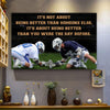 Lacrosse poster It's not about being better than someone else it's about being better than you were the day before