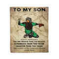 Fleece Baseball Blanket dad to son you are stronger than you seem