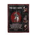 Fleece Blanket knight templar always remember you are smarter than you think love dad