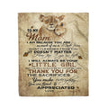 Fleece Lion Blanket daughter to mom thank you for the sacrifices