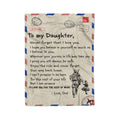 Fleece Soldier Blanket dad to daughter never forget your way back home