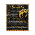 Fleece family Blanket mom to daughter never forget that i love you