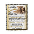 Fleece Lion Blanket Mom to daughter Never forget that how much I love you