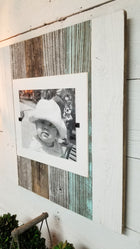 Cape Cod Style 8x10 & 11x14 Rustic White & Turquoise Picture Frames
