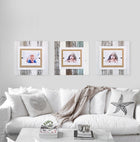 Modern Cape Cod Decor White & Turquoise Rustic Wood Picture Frames