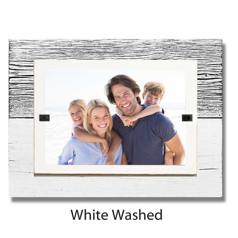 Tabletop Rustic Reclaimed Wood Picture Frame for 4x6 Picture