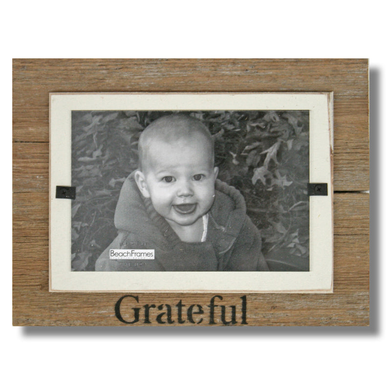 Set of Thankful Grateful Blessed Tabletop Farmhouse Christmas Wood Frames