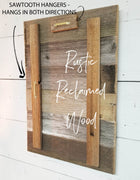 Cape Cod Style Triple 4x6 Picture Rustic Reclaimed Wood Picture Frame with Burlap Accent Backboards