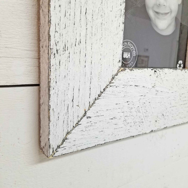 Chunky Rustic Wood Picture Frame for 4x6 Picture - Tabletop or Hanging