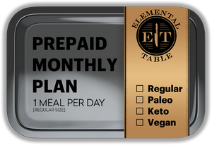 Monthly - Regular Size - 1 Meal Per Day