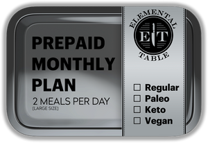 Monthly - Large Size - 2 Meals Per Day