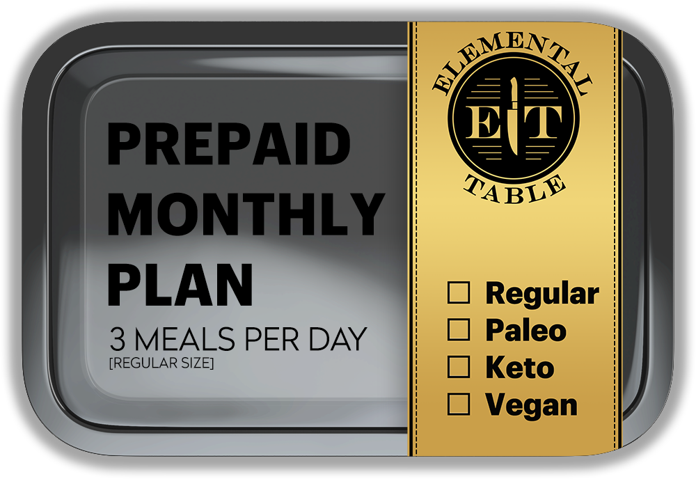 Monthly - Regular Size - 3 Meals Per Day