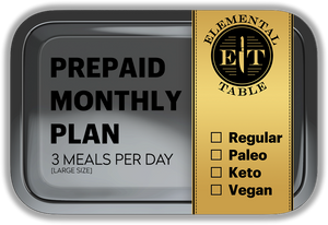 Monthly - Large Size - 3 Meals Per Day