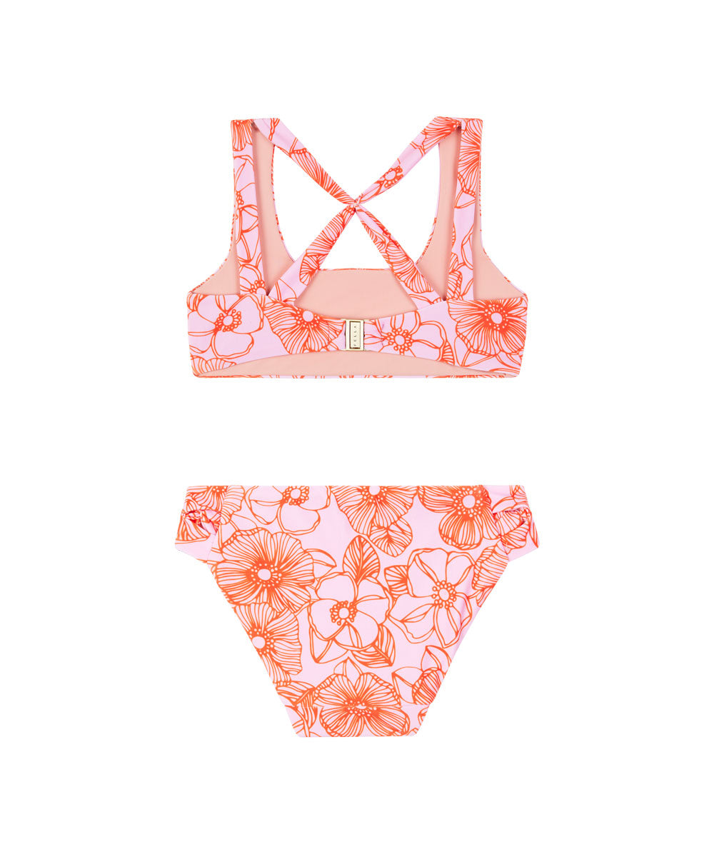 Lil Benny Set | Pink Orange Floral