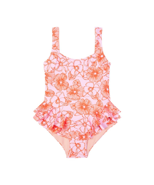 Lil Oscar Full Piece | Pink Orange Floral