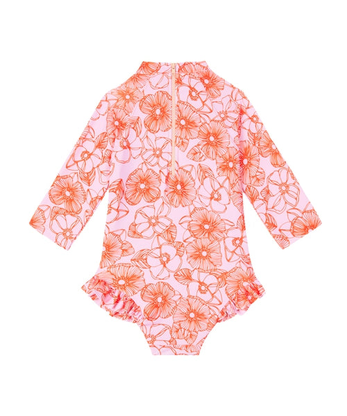 Lil Zac Full Piece | Pink Orange Floral