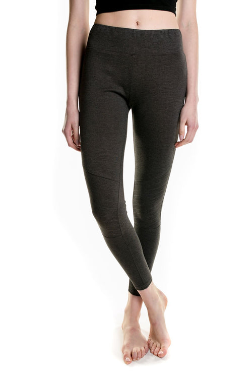 Orb Ladies Lacey Moto Legging In Charcoal