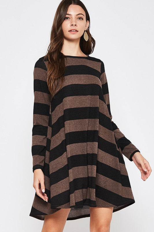 Beeson River Ladies Striped Tunic Dress
