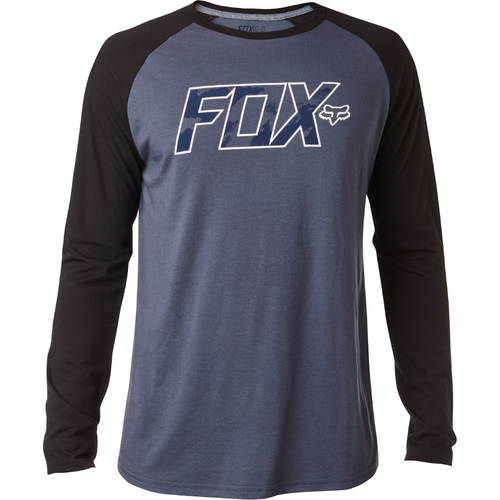 Fox Mens Gemstone LS Tech Raglan Pewter/Black