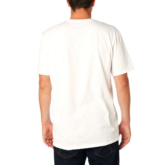 Fox Mens Upside Downer SS Tee Shirt In White