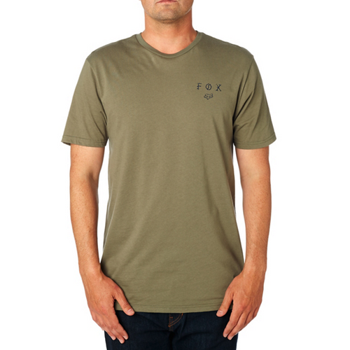 Fox Mens All Nightmares SS Premium Tee Shirt In Fatigue Green
