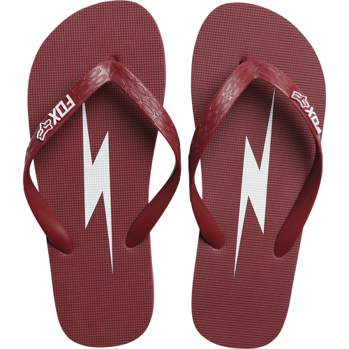 Fox Ladies Throttle Maniac Flip Flop In Dark Red