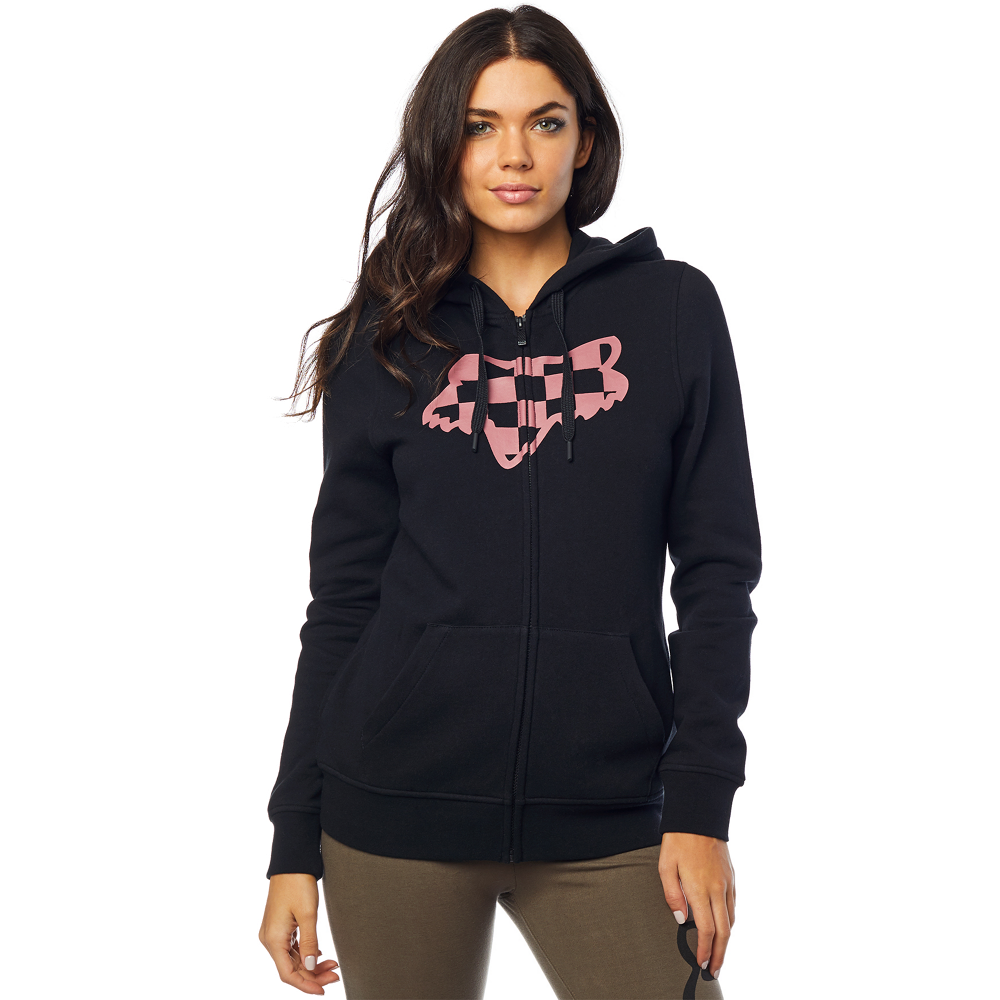 classic shoes many styles many fashionable Fox Ladies Check Head Zip Up Fleece Hoodie In Black – Current ...