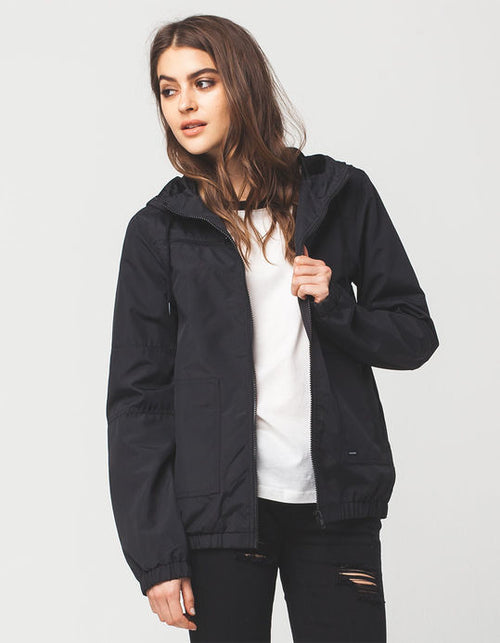 Volcom Ladies Enemy Stone Jacket In Black