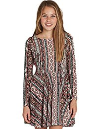 Billabong Girls Stand Out Dress Multi Coloured