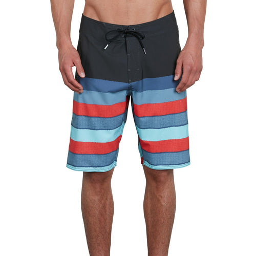 Volcom Mens Lido Liney Mod 21 Boardshorts In Wrecked Indigo