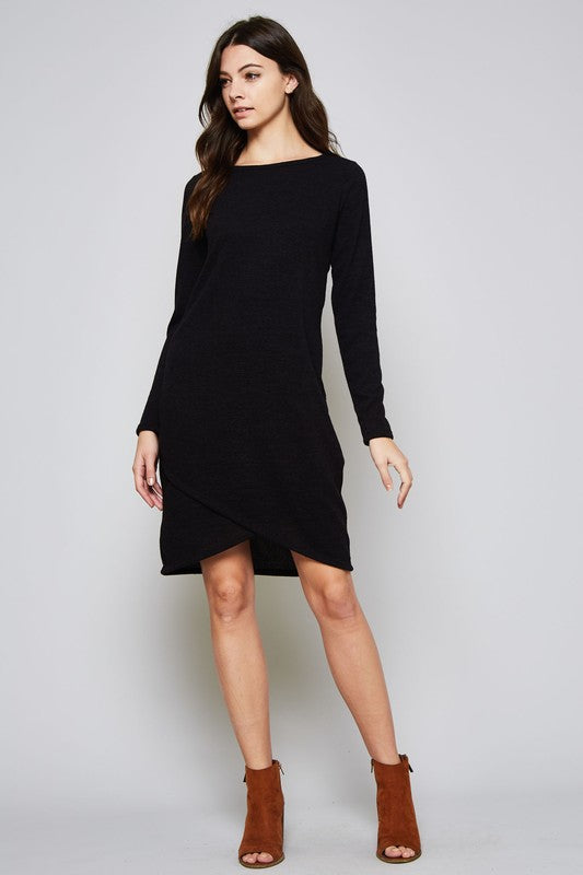 Beeson River Ladies Solid Sweater Dress in Black