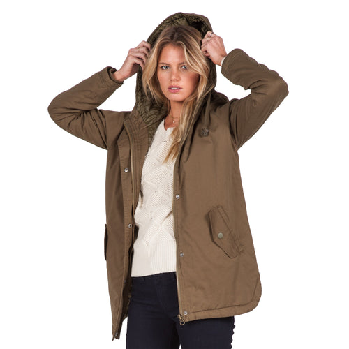 Volcom Ladies Good Side Parka Lentil Green