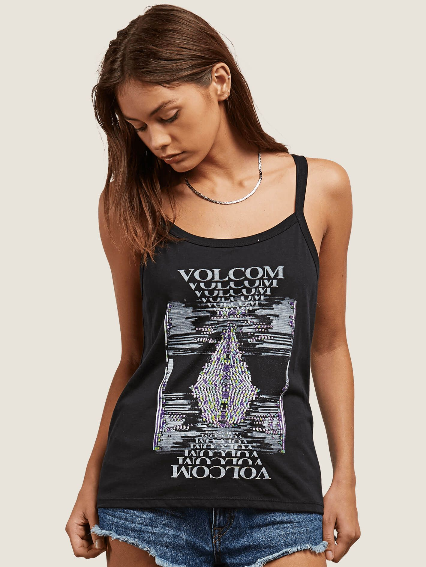 Volcom Ladies Into Tomorrow Tank Top In Black