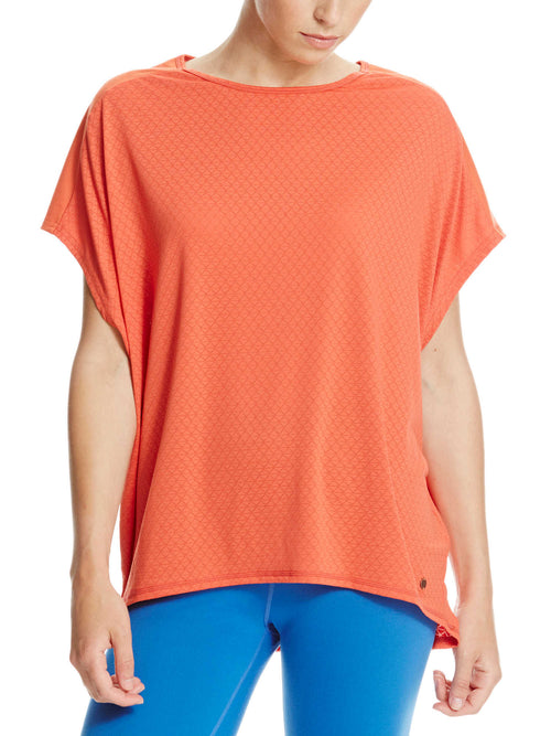 Bench Ladies GEO Mesh Tee In Coral