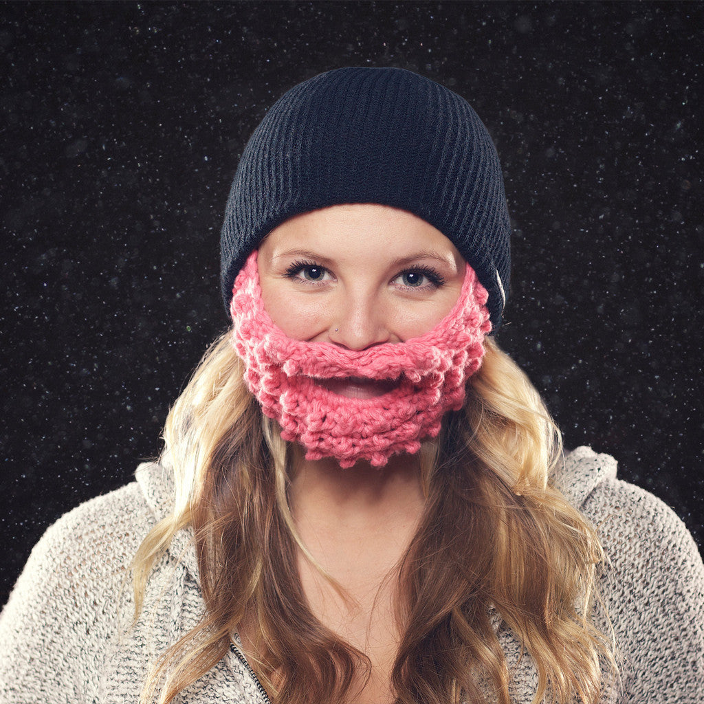 600cfa41ac2 BEARDO Attached Black with Pink Beard – Current Apparel