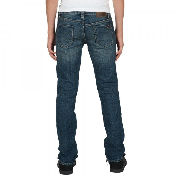Volcom Boys Vorta BY Denim Pants In Dust Bowl Indigo
