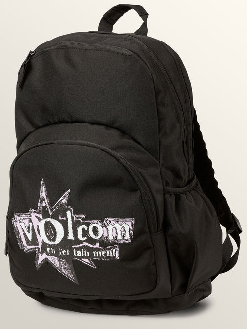 Volcom Girls Fieldtrip Poly Backpack In Black